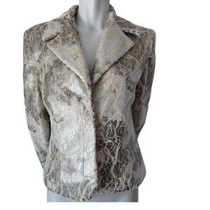 Nueva Silver and Tan Crackle Effect Jacket 8